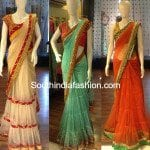Beauty of Frilled Sarees