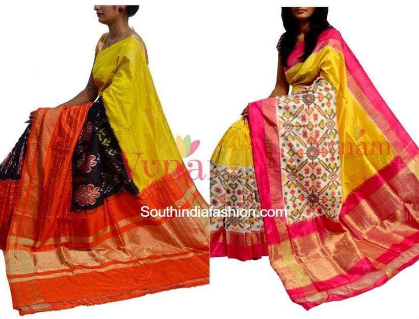Ikat Silk Sarees By Vynam South India Fashion