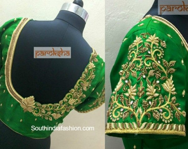 Maggam Work Blouse for Silk Sarees
