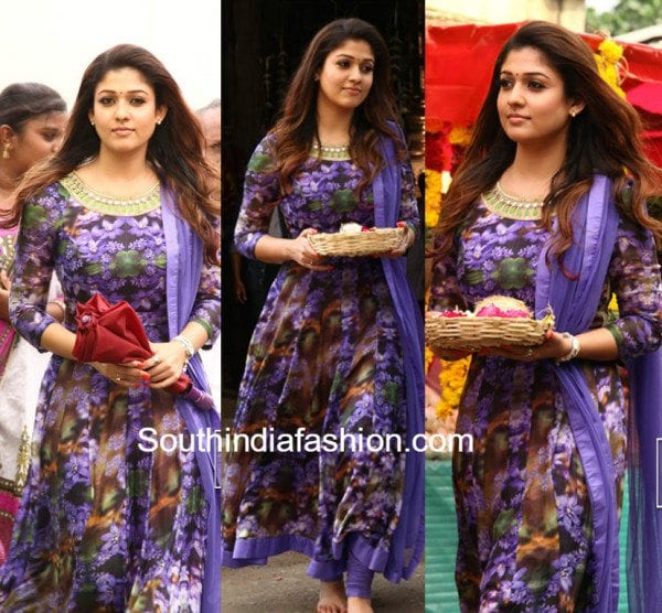 Nayanthara In A Floral Anarkali South India Fashion