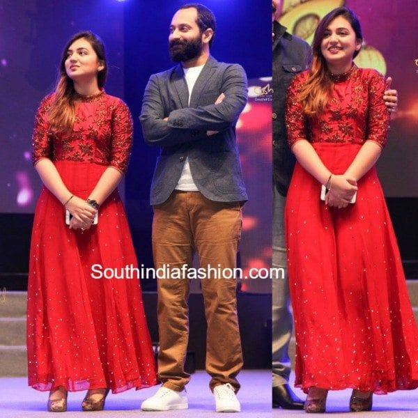 nazria_nazim__kairali_ishal_laila_red_gown