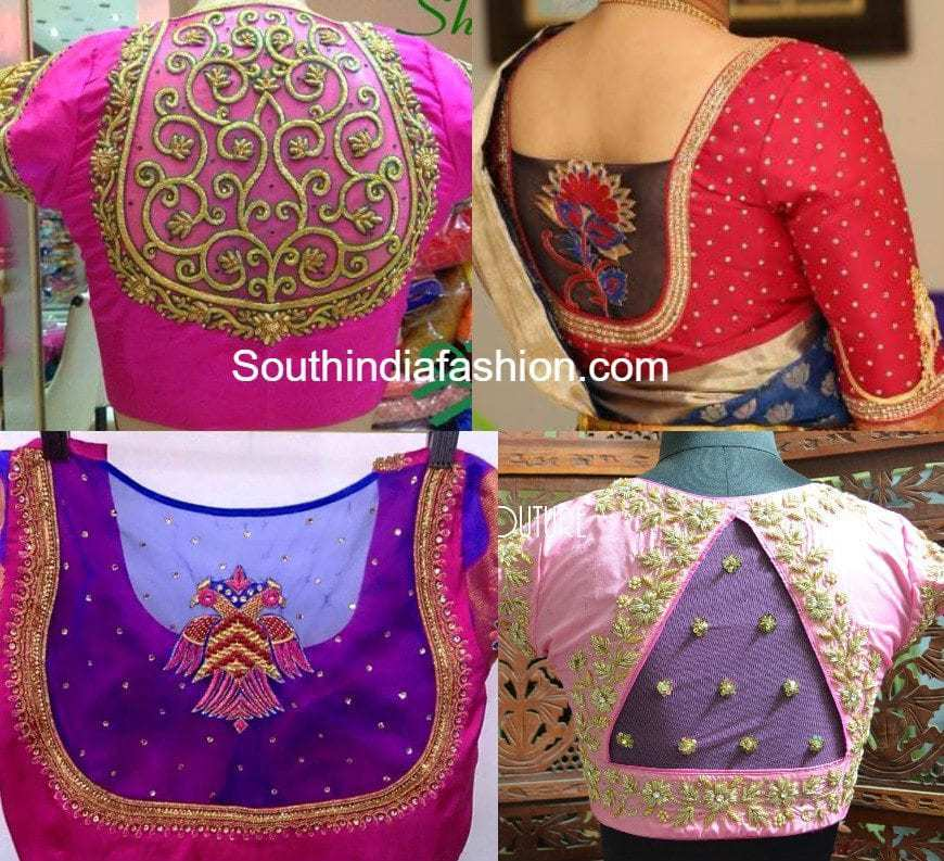 Net Saree Blouse Fashion Trends South India Fashion