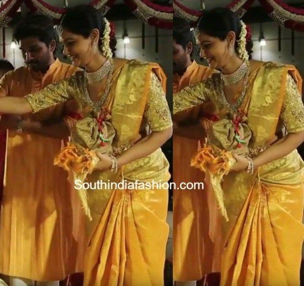Upasana Kamineni Sneha Reddy in a Gold ...