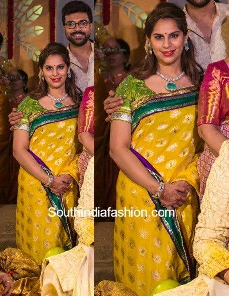 upasana_kamineni_saree_in_sreeja_wedding