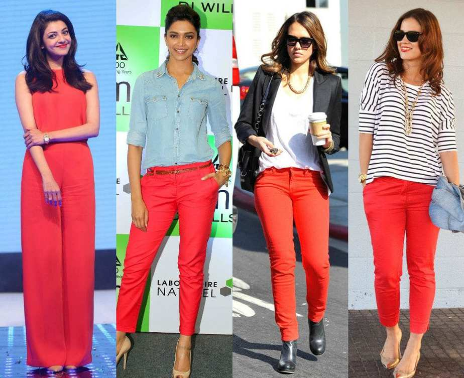 How to rock in your red pants?! – South India Fashion