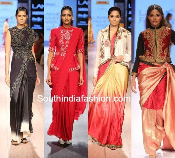 jacket blouse with sarees