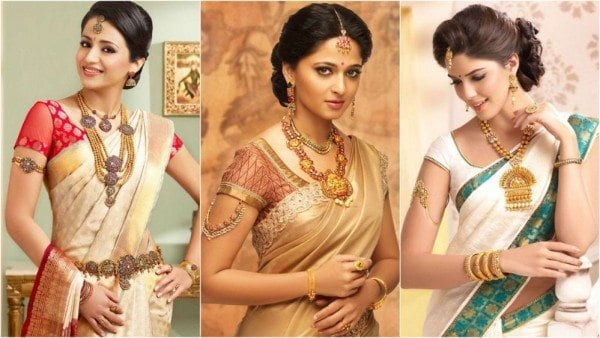 simple blouse designs with kanjeevaram silk sarees