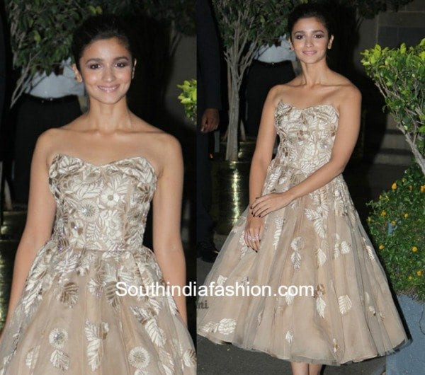 Alia Bhatt in Manish Malhotra Dress