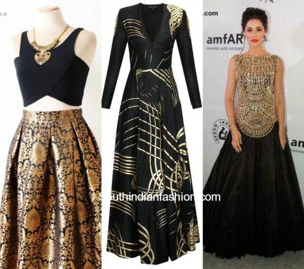 Black & Gold Indo Westerns 2