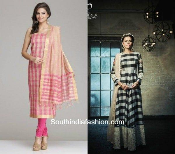 Checkered Salwars & Anarkalis