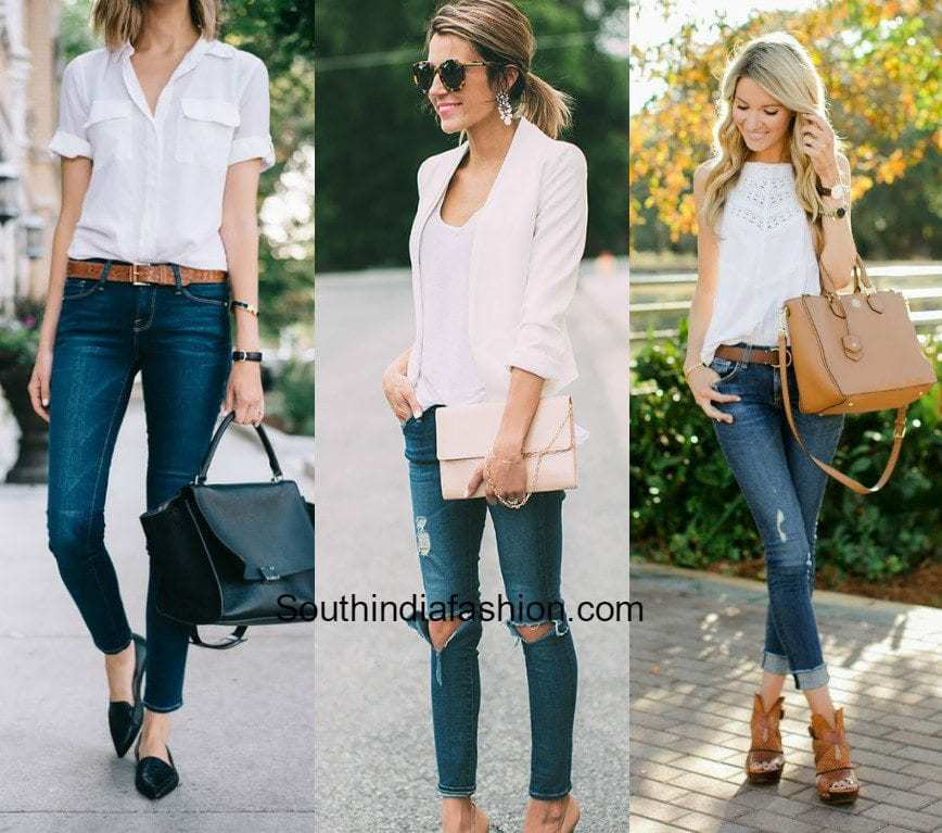 How to Wear Jeans to Work –South India Fashion