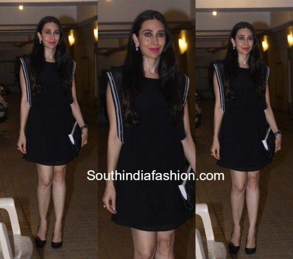 Karishma Kapoor in a black dress