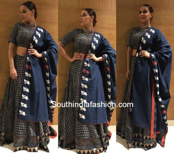 Neha Dhupia in Natasha J 600x530