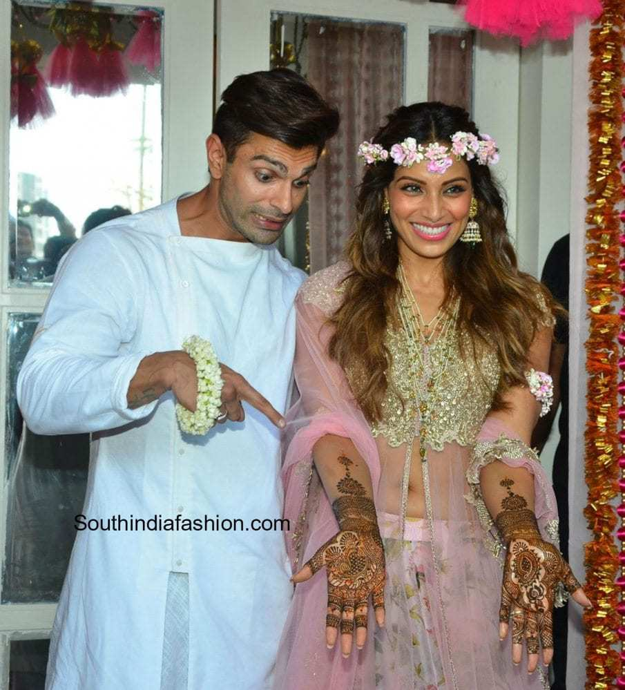 Bipasha Basu And Karan Singh Grovers Mehendi Ceremony South India Fashion
