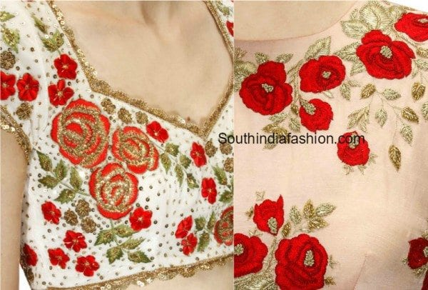 floral_embellished_blouse_designs