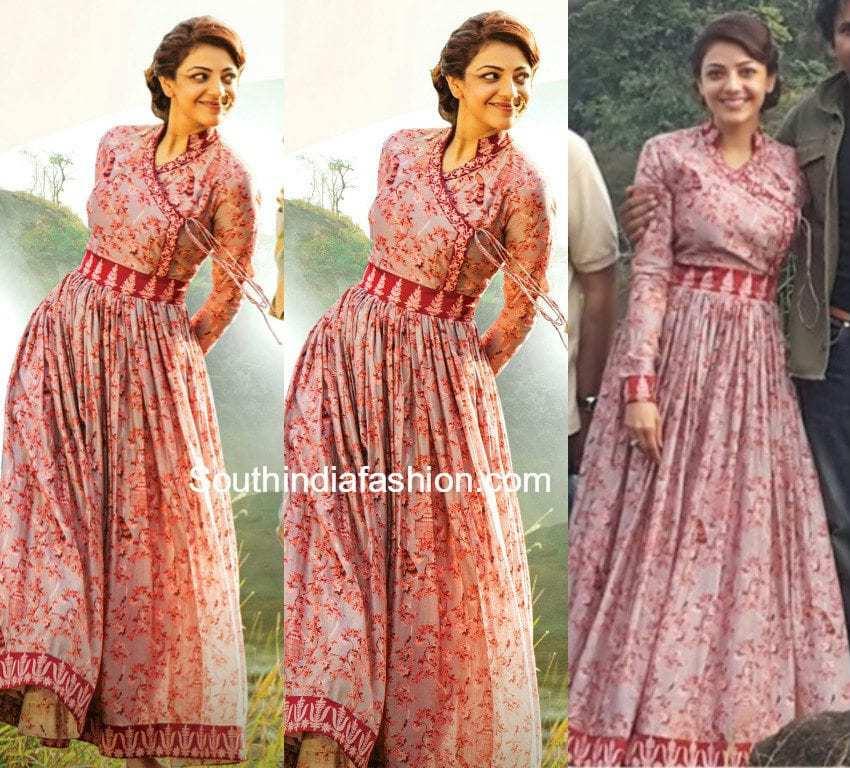 Kajal Aggarwal In Angrakha Anarkali South India Fashion