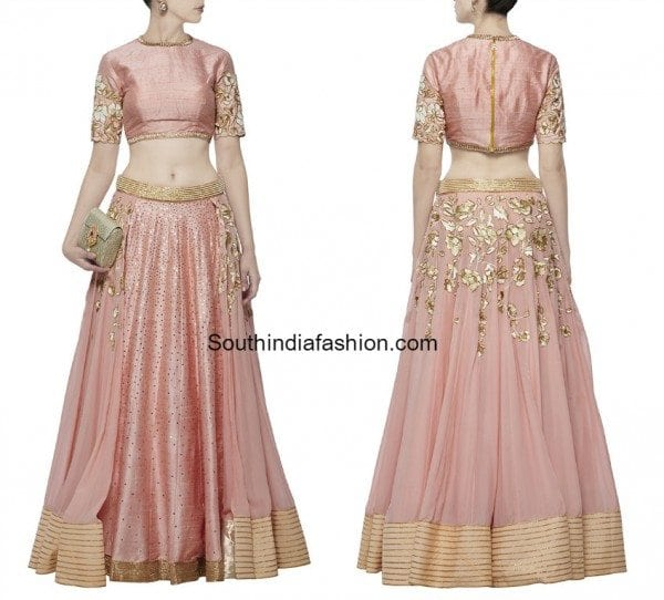 peach_lehenga_crop_top_by_divya_reddy