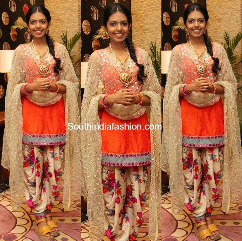 Shivani In A Dhoti Salwar