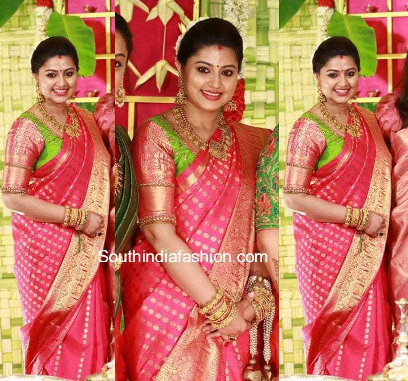 Sneha Prasanna In A Traditional Saree South India Fashion