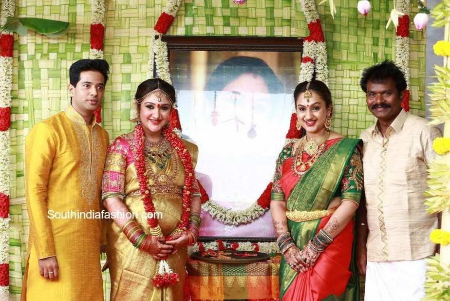 Sridevi vijaykumar with husband rahul at amcordesign us