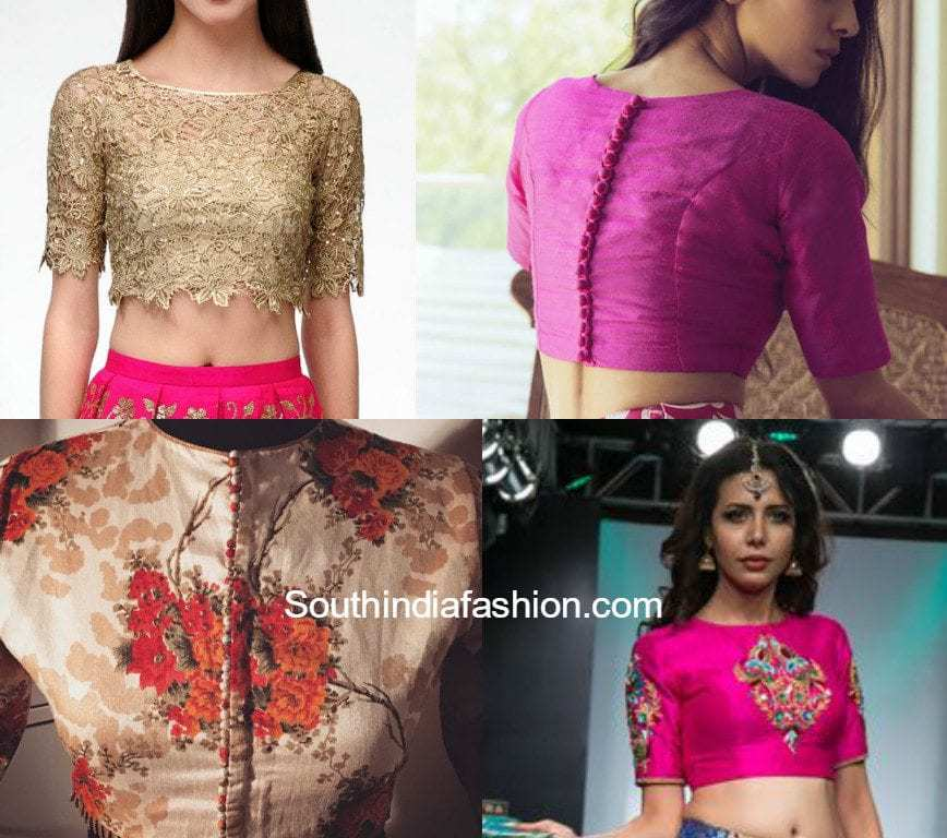 779c8d99a Hot Trend: CROP TOPS! – South India Fashion