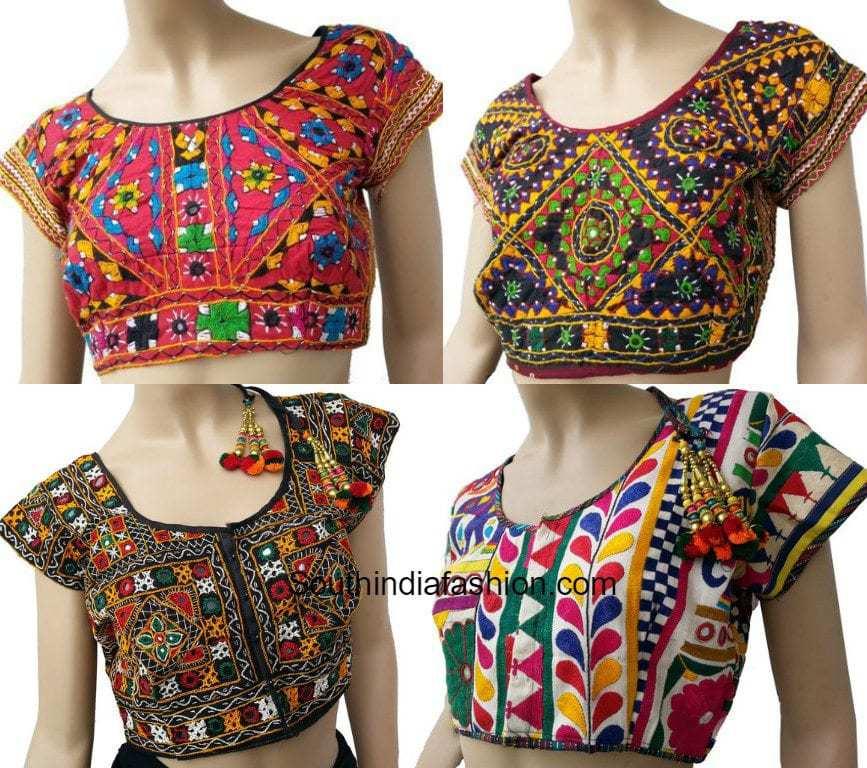 Beautiful Kutch Embroidered Blouse Designs U2013South India Fashion