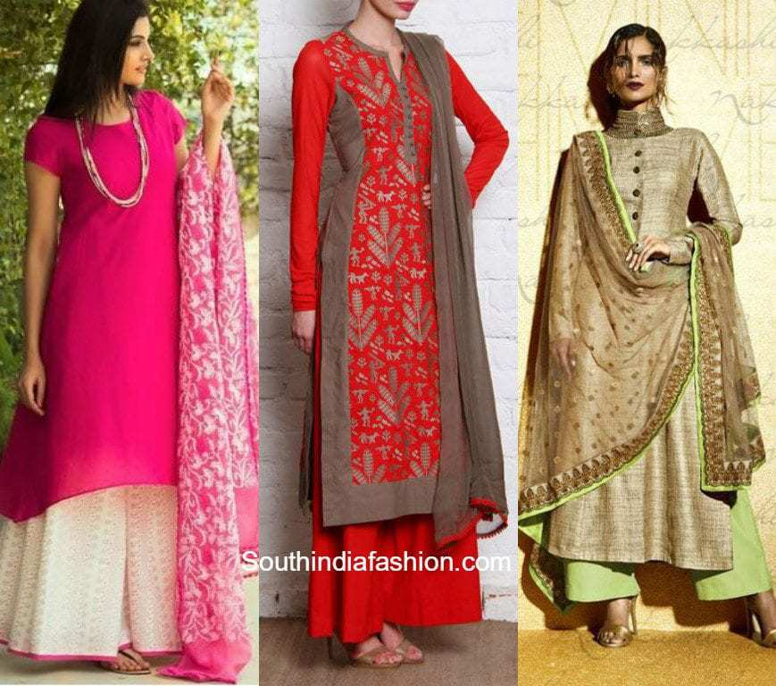 Latest Trend: PALAZZO SUITS! – South India Fashion