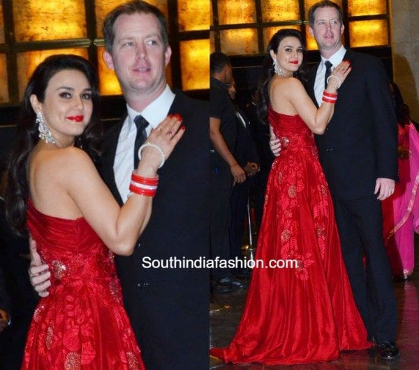 Preity Zintas Wedding Reception