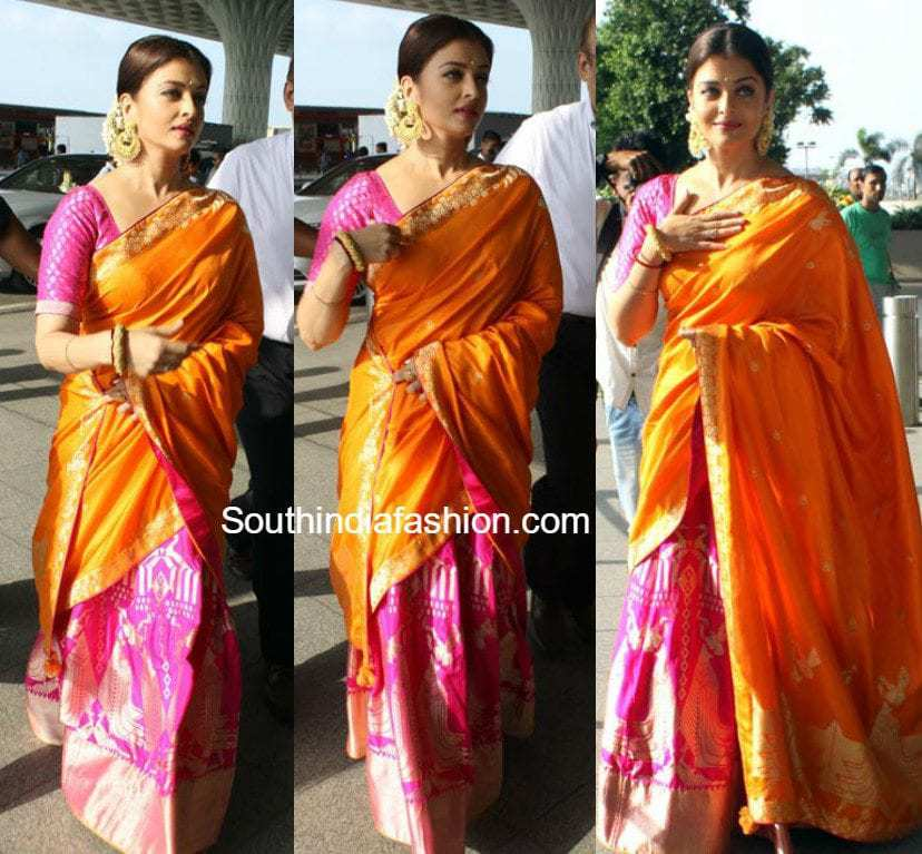 Aishwarya Rai In Ekaya Half Saree South India Fashion