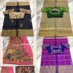 Traditional Sarees With Designer Blouses by Krishna's Designer Studio