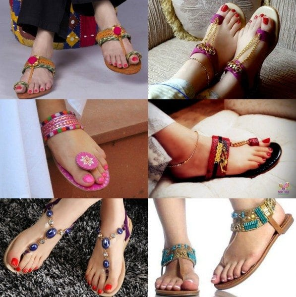 indian_flats_chappals_with_indian_outfits