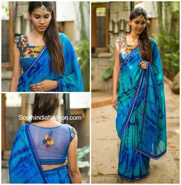 kalamkari_blouse_with_net_back