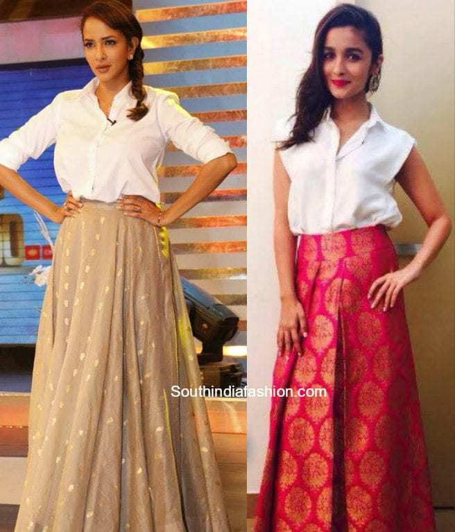 Hot Trend The Maxi Skirts South India Fashion