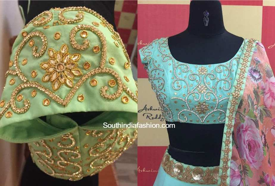 Maggam Embroidered Blouse Designs South India Fashion