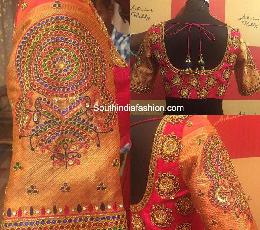 Beautiful Maggam Work Blouse For Wedding Sarees South