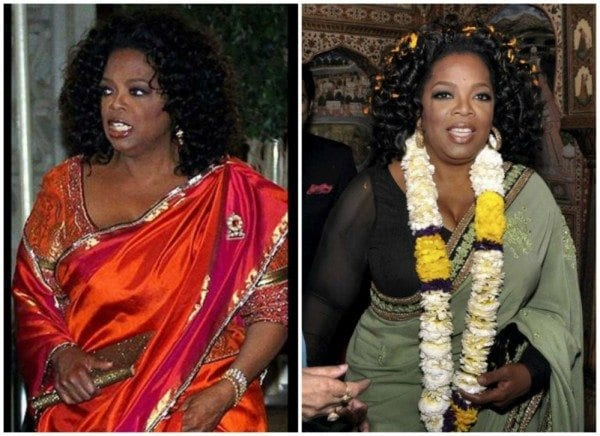 Hollywood Celebrities in Ethnic Sarees