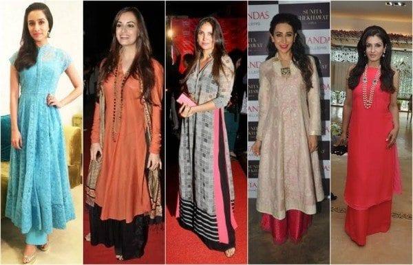 bollywood celebrities actress in kurta palazzos