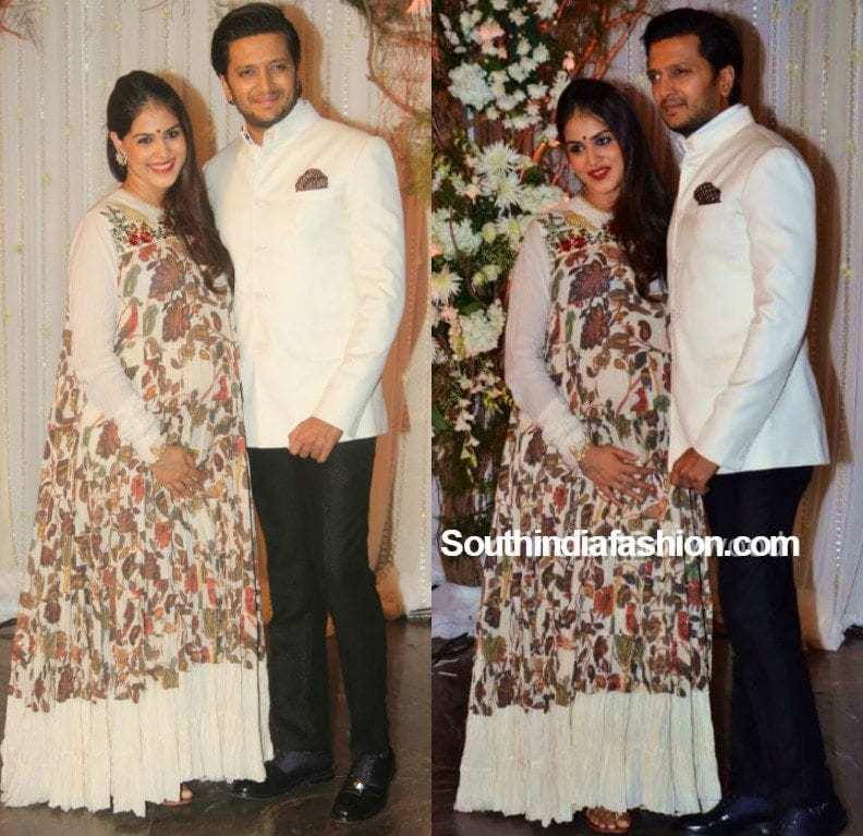Pregnant Genelia at Bipasha Basu and Karan\'s Wedding Reception ...