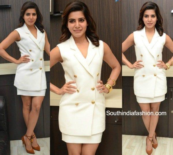 samantha_prabhu_koesch_dress_brahmotsavam_interview
