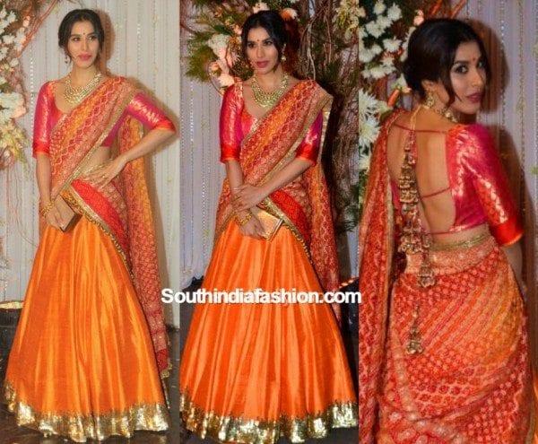 sophie_choudry_manishmalhotra_lehenga_at_bipasha_karan_wedding_reception