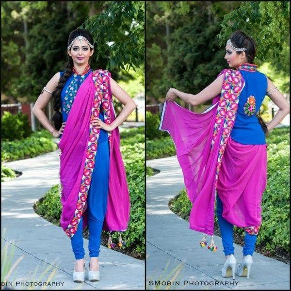 Designer Dhoti Saree by ViBha