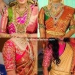 Elbow Length Sleeves Wedding Saree Blouse Designs