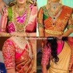 Elbow Length Sleeves Wedding Saree Blouse Designs