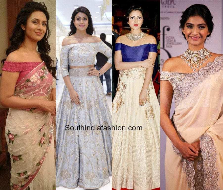 5ba8843556c683 Hot Trend: OFF SHOULDER! – South India Fashion