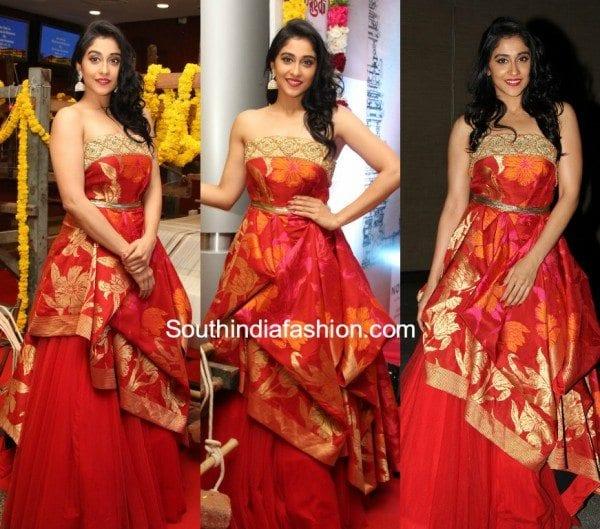 regina cassandra shravan kummar gown ode to weavers fashion show 600x529