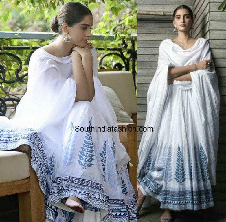 Sonam Kapoor In Anita Dongre South India Fashion