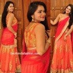 Ashwini in a half saree
