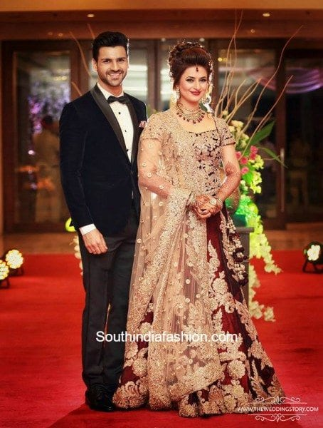 divyanka tripathi and vivek dahiya s wedding reception south india