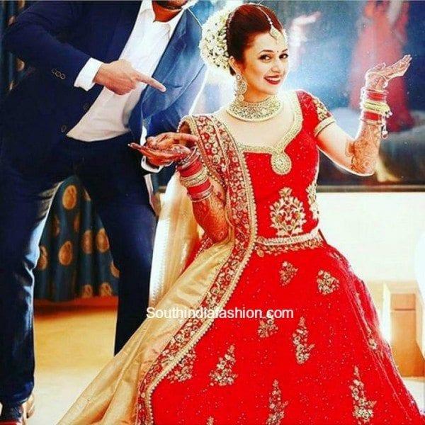 Divyanka Tripathi And Vivek Dahiyas Wedding South India Fashion