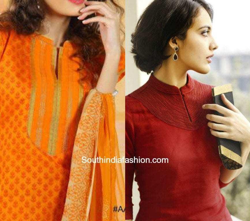 Latest Salwar Kameez Neck Designs South India Fashion